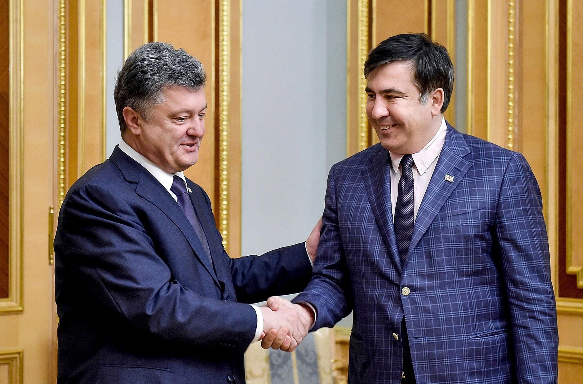Саакашвили пожаловался в прокуратуру на Порошенко