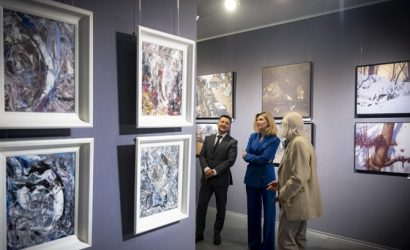 Зелеский на выставке художника Марчука предложил в бывшем здании посольства США сделать музей
