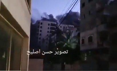 13-этажное здание рухнуло в Газе после авиаудара Израиля