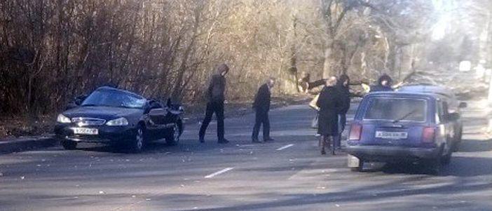В Донецке дерево упало на автомобиль: Погиб человек (Фото)