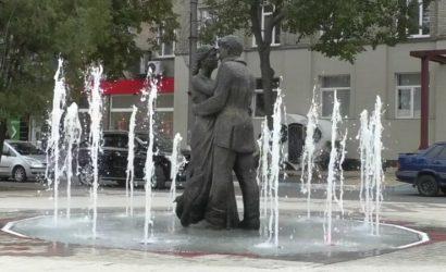 В Дружковке новый фонтан разрушил плитку (Видео)