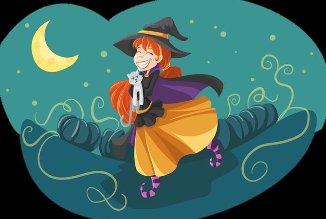 В США кота испугал костюм хозяйки на Хеллоуин