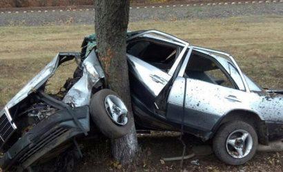 Въехал в дерево: На Донетчине разбилась машина с четырьмя подростками