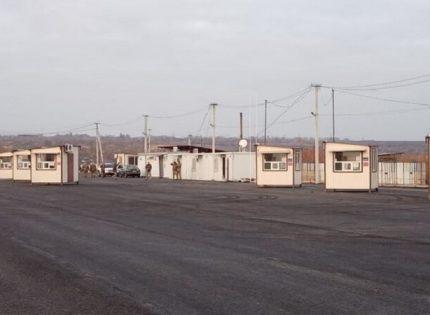 Установили модули пограничников: На Луганщине показали новый КПВВ «Золотое» (Фото)