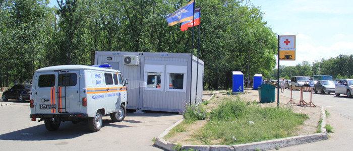 Стало плохо: С КПП «Александровка» «Скорая помощь» увезла женщину