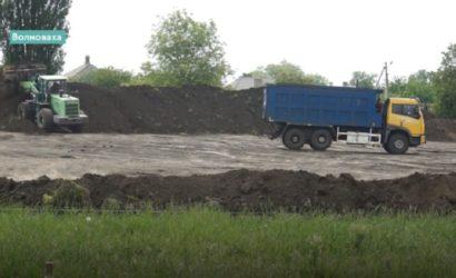 В Волновахе строят футбольный стадион за 26 миллионов (Видео)