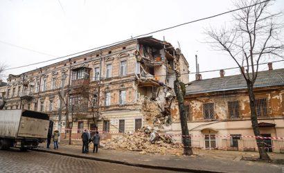 В Одессе обрушился очередной памятник архитектуры