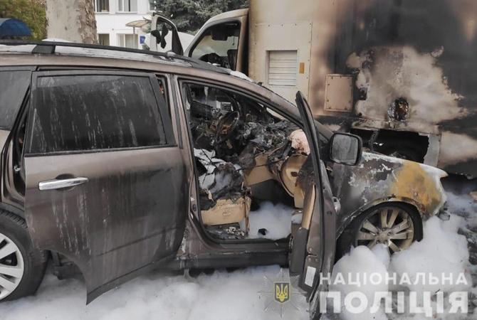В Одесской области сожгли машину таможенника и специальный рентген-сканер
