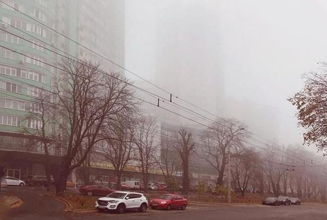 Украина тонет в едком тумане, но сильного загрязнения воздуха нет
