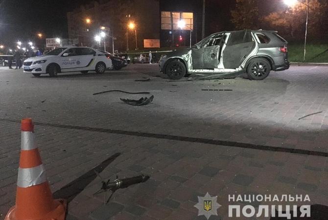 В Ивано-Франковсе из гранатомета подорвали «БМВ»