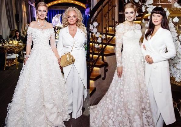А кто замуж выходит: Долина и Гришаева пришли на свадьбу подруги в белых нарядах