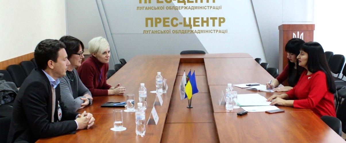 Луганщину посетила глава делегации МККК в Украине (Фото)