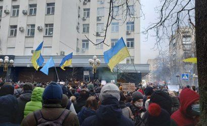 В МВД поблагодарили сторонников Стерненко за мирный протест