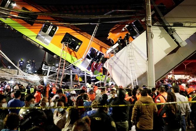 Количество погибших из-за обрушения моста метро в Мексике увеличилось до 20