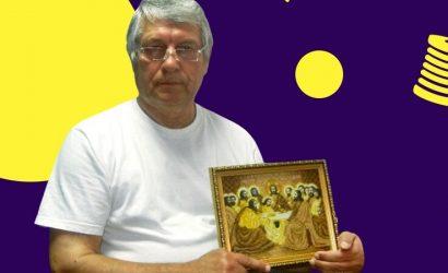Продавать не имеет права: Шахтер из Горловки вышивает иконы бисером (Фото)