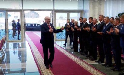Гостелеканалы Беларуси показали полное видео инаугурации Лукашенко