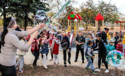 В поселке Бересток открыли детский игровой комплекс (Фото)