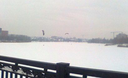 В Донецке появились сноукайтеры (Фото)