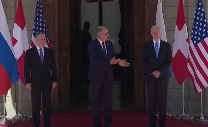 Историческая встреча Байдена и Путина началась с совместной фотографии