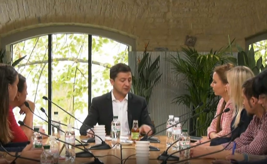 Зеленский поспорил с журналистом «Нового времени»