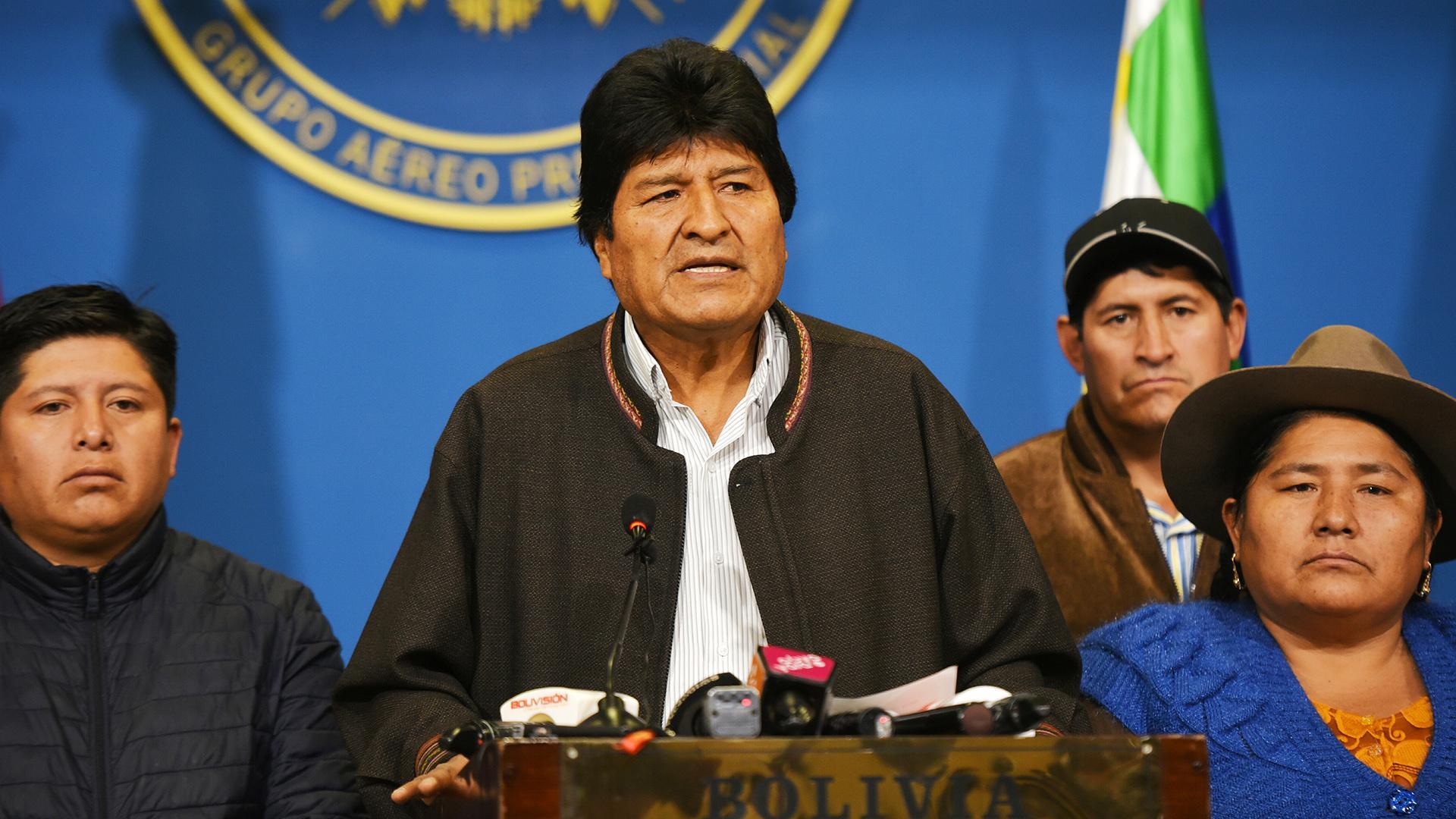 Моралес обвинил США в организации переворота в Боливии