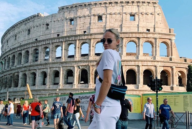 Итальянские каникулы: Дарья Белодед гуляет в Риме