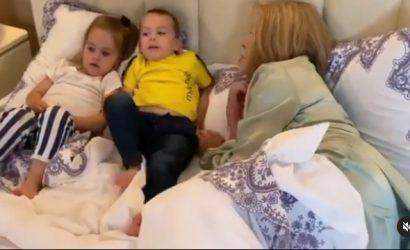 Любовь Успенская заинтриговала пользователей видео с маленькими детьми:  Лучшее завершение дня
