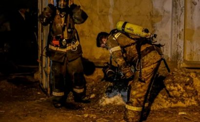 В Киеве произошел пожар в частной бане, погибли три человека