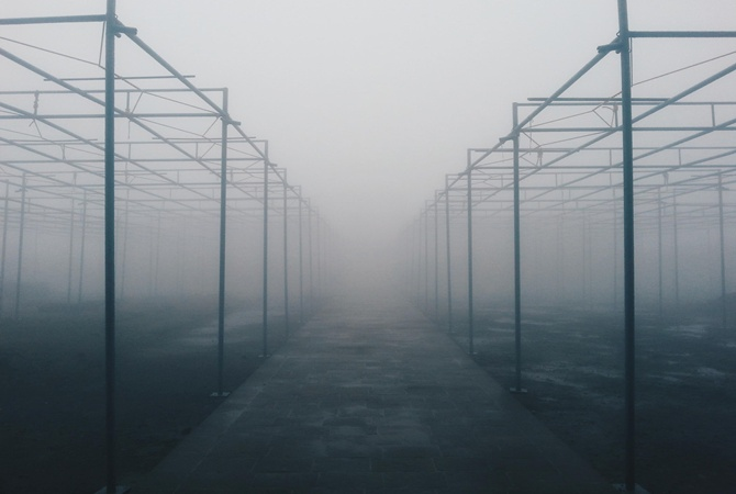 Едкий туман в Киеве держится и не собирается уходить