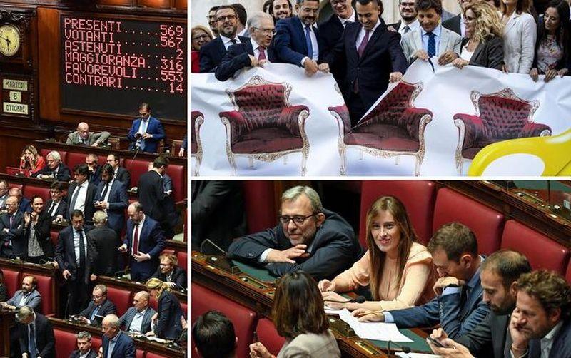 В Италии сократили количество депутатов