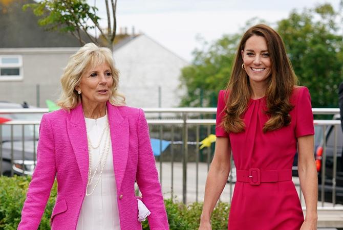 Джилл Байден и Кейт Миддлтон встретились на полях G7: модный гардероб потянул на 6,5 тысяч долларов