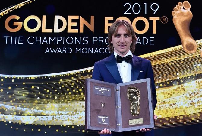 Модрич обошел Месси и Роналду в борьбе за награду Golden Foot