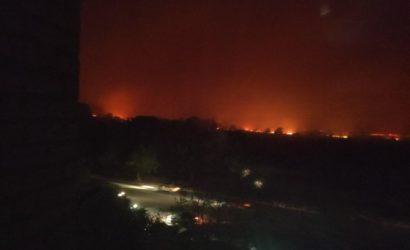 Жители Северодонецка о пожарах: Огонь подошел вплотную к городу