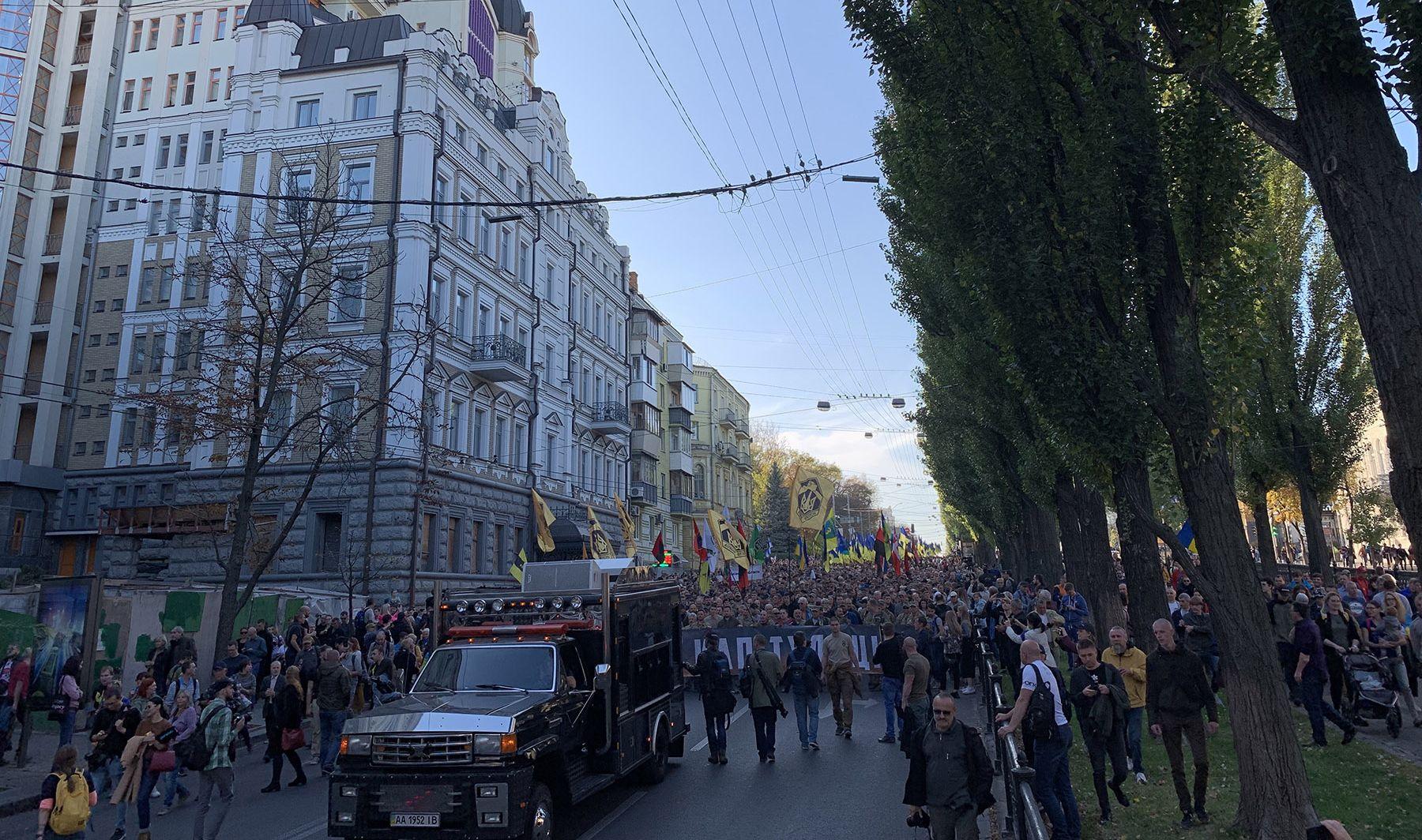 На марше «Нет капитуляции» выкрикивали советский лозунг