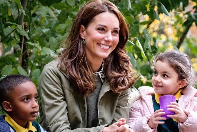 Кейт Миддлтон побыла нянечкой в детсаду