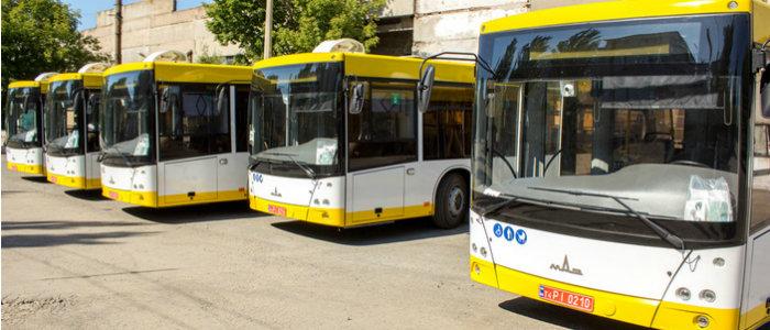 В Мариуполь приехала очередная партия новых автобусов