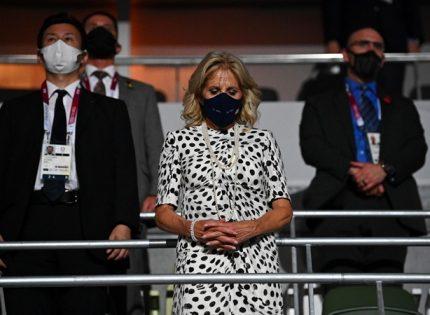 Джилл Байден надела на открытие Олимпийских игр платье от Brandon Maxwell