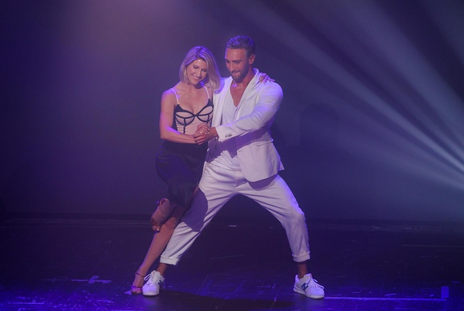 «Зважені та щасливі-9»: как Анита Луценко и Иракли Макацария разучивали страстный танец