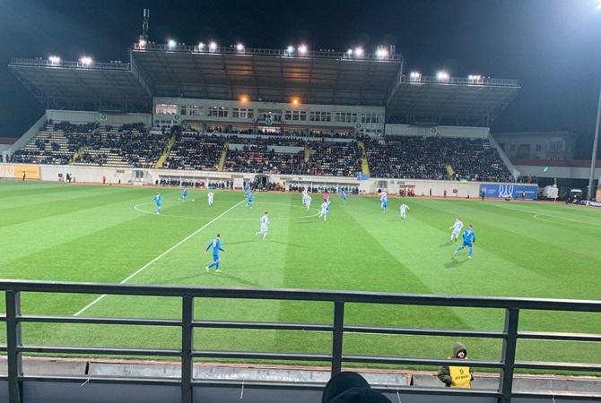 Сборная Украины в компенсированное время забила гол и победила Эстонию