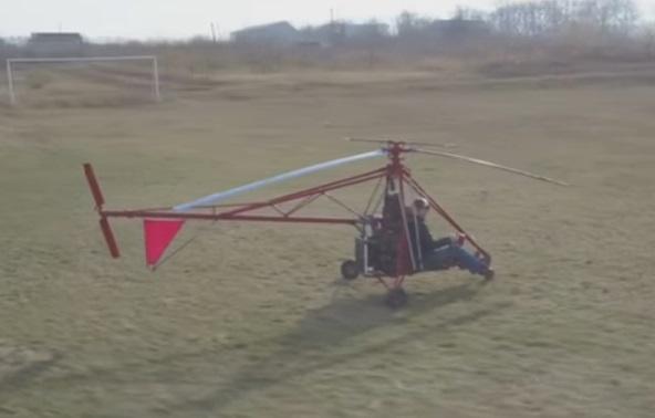 В Винницкой области инженер смастерил вертолет из автомобильных деталей