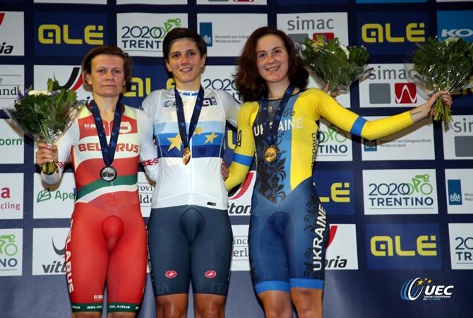 Украина выиграла вторую медаль на чемпионате Европы по велотреку