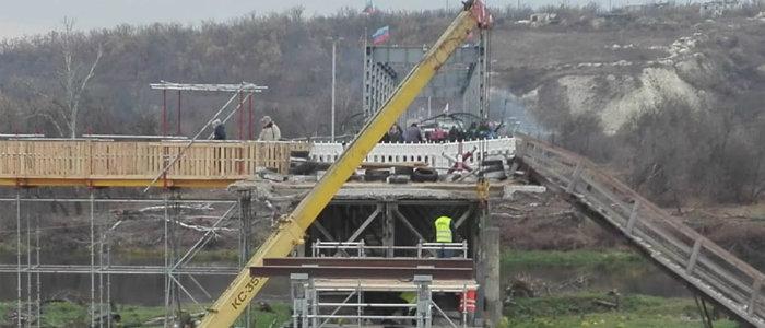 Восстановление моста у Станицы Луганской продвигается быстро, – ЛугОВГА (Фото)