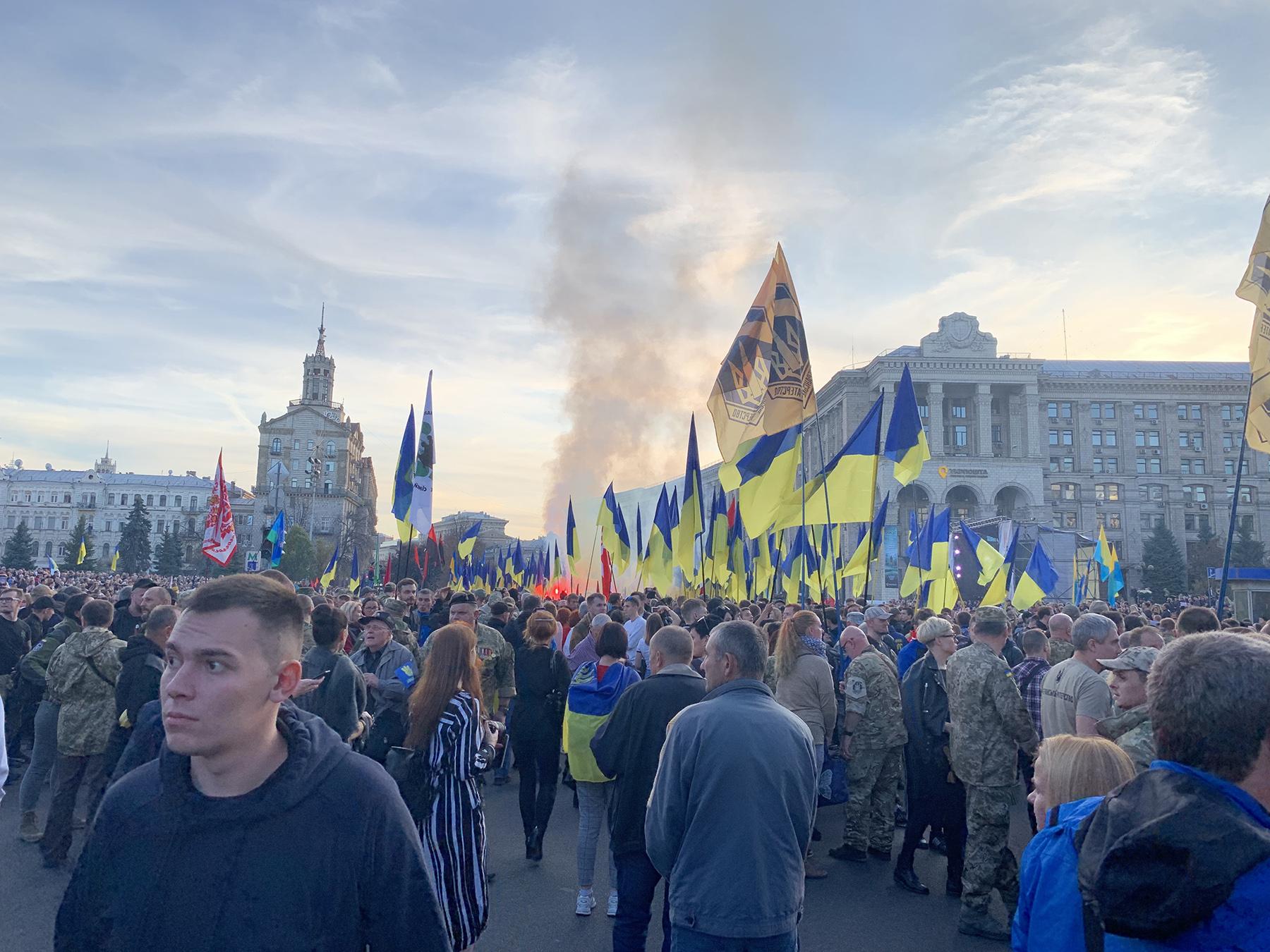 На Майдане хотят отправить геть Зеленского и Богдана
