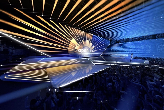 В сети появились фото сцены «Евровидения 2020»