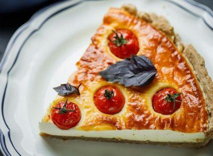 Рецепт соленого чизкейка или сырный пирог с томатами от Клопотенко