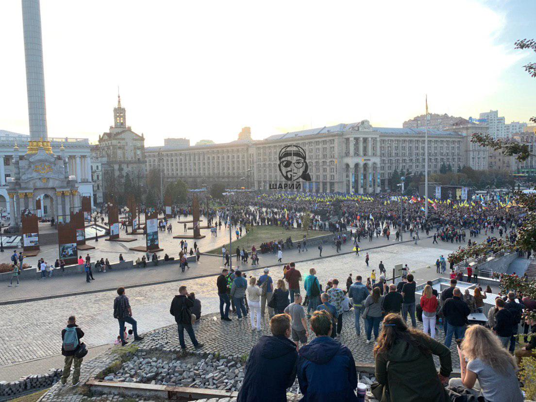 На Крещатике скандировали кричалку о Путине