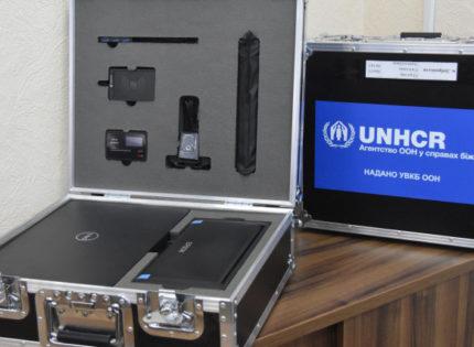 УВКБ ООН вручила управлениям социальной защиты населения Донецкой области 12 мобильных кейсов