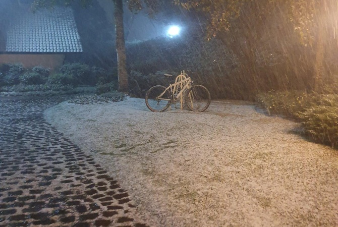 В Бразилии ударил рекордный мороз, юг засыпало снегом
