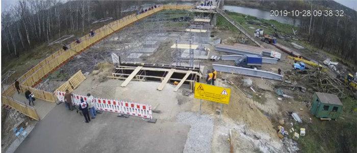 Возле КПВВ «Станица Луганская» возводят опоры моста