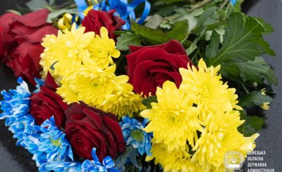 При участии военных: На Донбассе отметили День Соборности Украины (Фото)